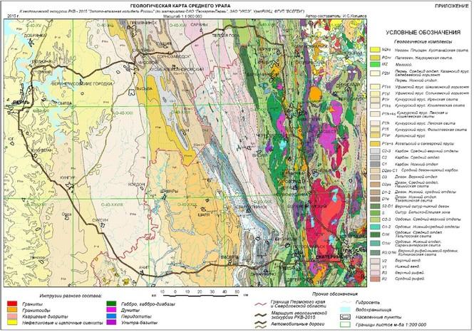 геологические карты россии золото моделей
